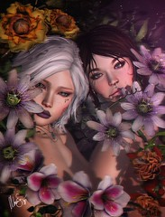 Natural minds (MonaSax95 Resident) Tags: pic shot photo avatar avatars creative art sl secondlife fashion style photographer photograpy photoshop flower flowers light dark
