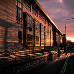 Sunset on bridge street - Dublin, Ireland - Color street photography thumbnail