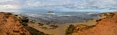 Assalama shipwreck site (orientalizing) Tags: april302008 assalama coast morocco panorama rust seascape shipwreck tarfaya