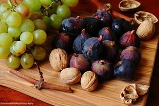 Fichi, uva e noci