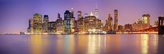NY Manhattan VI (stega60) Tags: lowermanhattan manhattan skyline night lights citylights skygrabber water sea bridge brooklyn brooklynbridge liberty newyorkcity hdr panorama stiched stega60