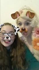 Phone pics (Elysia in Wonderland) Tags: elysia becca marvellous events disney rapunzel costume cosplay dog filter snapchat