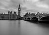 Some of one from around London (cjthorose) Tags: london england unitedkingdom gb longexposure bigben housesofparliament blackandwhite thamesriver