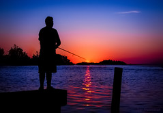 Magic Wand [The Lure of the Fisherman] (JDS Fine Art Photography) Tags: fishing fisherman twilight colors landscape sportsman