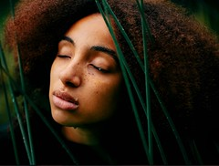 Chinonye. (David Uzochukwu) Tags: portrait girl water wet face nature grass plants hair afro