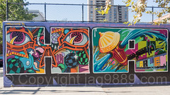 "Detail of ""Welcome to Harlem"" Mural, Graffiti Hall of Fame, East Harlem, New York City (jag9889) Tags: 2017 20171001 bg183 bio detail eastharlem graffiti graffitiartist graffitihalloffame how harlem manhattan mural muralist nosm ny nyc newyork newyorkcity nicer outdoor painting spanishharlem streetart tagging tatscru themuralkings usa unitedstates unitedstatesofamerica wall welcome jag9889 welcometoharlem"