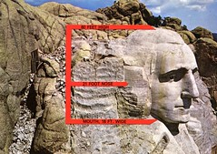 Profiles Of Washington, Mt. Rushmore National Memorial, South Dakota (SwellMap) Tags: postcard vintage retro pc chrome 50s 60s sixties fifties roadside midcentury populuxe atomicage nostalgia americana advertising coldwar suburbia consumer babyboomer kitsch spaceage design style