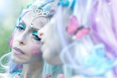"TEATRONATURA ""Elf butterfly"" (valeriafoglia) Tags: photo photography portrait pretty creative creature composition capture colors elf butterfly lights blue mirror fantasy fairy face art makeup outfit stylist"