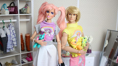 Jem and AlisonZucci (halscary) Tags: mlp little pony jem holograms ace mcfly color infusion fashion roylaty integrity toys doll pink hair jerrica moschino barbie silkstone collector nuface frhomme