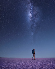I'm on my way (Jay Daley) Tags: loxia21mm a7rll sony selfie night universe stars astro milkyway saltlake pinksalt sealake australia victoria laketyrell