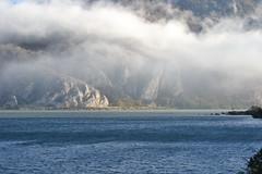 Fog, sun and Danube (vladobgd) Tags: dunav golubac serbia romania fog magla d3100 vladobgd karpati