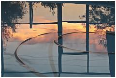 Pool 2017 #3 (hamsiksa) Tags: water freshwater pools swimmingpools suburban suburbanpools reflections sky colors abstract abstraction grid