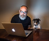cozy evening at our home (Georgie Pauwels) Tags: apple laptop notebook dog online home cozy evening family