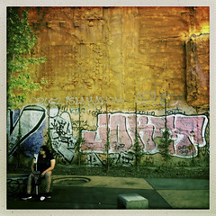 Injured (jonwaz) Tags: hipstamatic iphoneography iphone jonwaz barcelona espana europa street life candid people streetart streetlife streetphotography graffiti injury injured