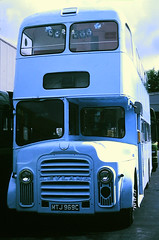 Slide 107-22 (Steve Guess) Tags: lcbs london country leatherhead bus garage surrey england gb uk leyland titan mtj969c