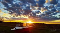 Sunset on the Prairie (darletts56) Tags: boat prairie orange sun clouds flat land saskatchewan night dramatic