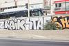 Raik Staf (lanciendugaz) Tags: graffiti graff paris spray spraycan autoroute a4 vandalisme vandal chrome couleur lettrage roulo hauteur block crew tags tag taggeurs graffeurs negatif spot