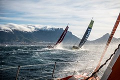 November 19,2014. Leg 2 onboard Team Alvimedica. DAY 0. The start of Leg 2 from Cape Town,SA,to Abu Dhabi,UAE,sends the fleet off with a quick exit and strong winds. Literally launched out of Cape Town and Table Bay,strong 35 knots send the fleet on its w