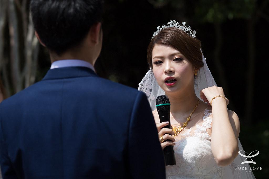 婚禮進場若能保持微笑照片會更加動人