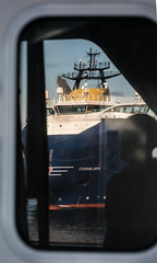 Is that a Møkster in the window? (SPMac) Tags: stril barents simon møkster shipping vard psv06 lng arctic circle sea norway eni norge goliat fpso 71227 floating production storage oil gas reflections window maersk forza supply service rem