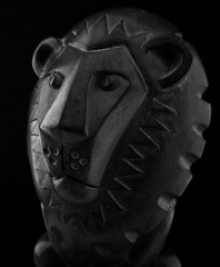 Determined (arbyreed) Tags: arbyreed macromondays zodiac romanzodiac close closeup monochrome bw blackandwhite lion statue sculpture