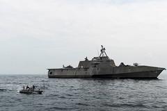 "U.S., Royal Malaysian Navies sail together during Maritime Training Activity Malaysia 2017 (#PACOM) Tags: ""uspacificcommand pacom"" usscoronado lcs4 littoralcombatship desron7 destroyersquadron7 ctf73 pacificocean asiapacificrebalance navy sailors usn"