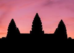 An impersonation of Meru (ajecaldwell11) Tags: sunrise ankh purple dawn buildings xe2 fujifilm light morning newzealand angkorwat siemreap silhouette sky wat cambodia caldwell temple clouds