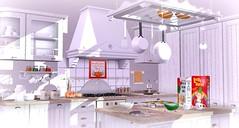 Messy kitchen (Alexa Maravilla/Spunknbrains) Tags: cherryhouse theseasonsstory quirky lovelyalien teabunny bowillow junkfood 7madravens secondlife kitchen indoors homedecor decor salem