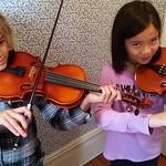 Violet & Jasmine Play A Violin Duet thumbnail