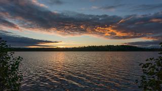 Lake in Espoo at sunset