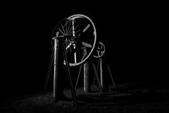The Wheel.jpg (___INFINITY___) Tags: 6d aberdeen bw godoxad360 ad360 architect architecture canon canon1740f4 cog darrenwright dazza1040 eos fineart flash infinity light lightpainting longexposure night scotland strobist metal