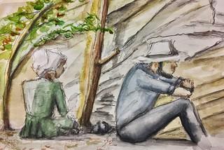 Verna & Willis at Ash Cave