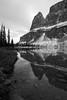 Towering Boulder (Golden Ginkgo) Tags: eisenhowertower towerlake castlemountain rockboundlaketrail reflections blackandwhite