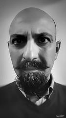 un po' di autostima (Massimo Vitellino) Tags: portrait selfie abstract conceptual contrast humanface person perspective hdrblackandwhite indoors