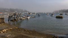 Lobstering Harbor (John H Bowman) Tags: newengland maine cumberlandcounty bristol roundpond baysinlets muscongusbay marinasharbors dockspiers boats fishingboats sailboats fog september2017 september 2017 canon24704l