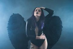 Angel of Darkness (Barry_Madden) Tags: cities lappeenranta neal alternativegirl angel attitude darkhair female finnish finnishgirl latex longhair piercings portraitphotography portraits portraits2017 tattoos woman youngwoman