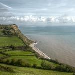 Devon - Looking down on Weston Beach thumbnail