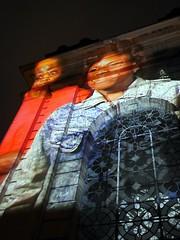 Birmingham Weekender - Tony Oursler - 3 (the justified sinner) Tags: justifiedsinner tonyoursler installation multimedia theinfluencemachine stphilips cathedralsquare birmingham weekender arts culture westmidlands panasonic 17 20mm gx7