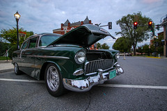 55 Envy (Shutter Photography & Hot Rod Images) Tags: 1955 chevy chevrolet car transportation outdoor smalltown cruisein carshow chrome classic antique vintage green canon50d