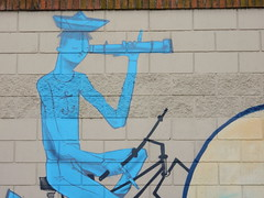 Lookout (aestheticsofcrisis) Tags: street art urban intervention streetart urbanart guerillaart graffiti postgraffiti buenos aires bsas argentina la boca barracas