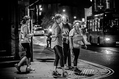 Who`s got the map? (phil anker) Tags: street night salisbury runners mono