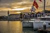 20171103-_DSC2108 (Riure Lliure) Tags: red sunset sea beach yate catamaran valencia harbour ship boat light shine warm