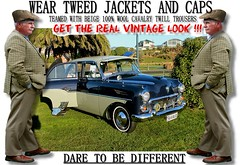 Get the  real vintage look  part 8 (80s Muslc Rocks) Tags: nz newzealand car cars auto autos vehicle vehicles retro vintage club rally vintagecar oldcar canon cavalrytwilltorusers wool plaid scottish scotland british uk thetweedride tweedflatcap cheesecutter gent man fashion oldschool houndstooth outdoor sky grass oldcars parked carshow poster artwork manwearingtweed wearrtweed yorkshire auckland whangarei tauranga gisborne hastings napier hamilton newplymouth plamerstonnorth wellington nelson christchurch dunedin invercargill distinguishedgentlemensride sydney london melbourne vuaxhall 1950s 50s weartweed oamaru ashburton