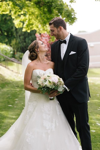 Marc and Kortney Trasolini on their wedding day