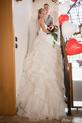 Bride and groom on the stairs (Peter Goll thx for +12.000.000 views) Tags: erlangen germany bride groom stairs treppe braut bräutigam wedding hochzeit brautkleid dress