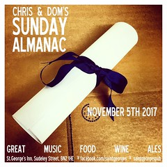 diary #Adjunct: Sunday Almanac- November 5th, 2017