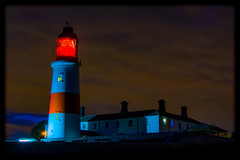 Lit Souter Lighthouse 15/10/17 (Mark240590) Tags: