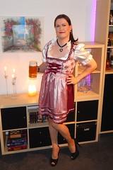 Prosit! (Rikky_Satin) Tags: silk satin drindl oktoberfest pantyhose highheels pumps beer crossdresser crossdressing tgirl transvestite transgender tranny sissy