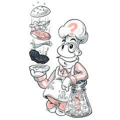 Burger Time (Question Josh? - SB/DSK) Tags: pen ink marker drawing drawn doodle sketch inktober burgertime burger food