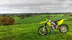 Itching To Be Out There... (Andy Tee) Tags: motocross motorbike landscape hills trees wales bangor on dee dirt bike yamaha 450 hdr